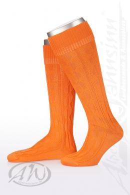 Alpensocks Trachten Kniestrümpfe - 1052, Orange, 13 (44-45)