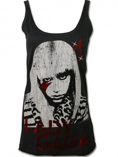 Amplified Damen Strass Tank Lady Gaga (L)