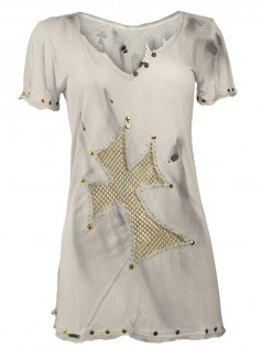 Cross & Glory Damen Shirt Gold