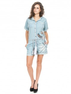 Desigual Damen Overall Monkey Patchi Light