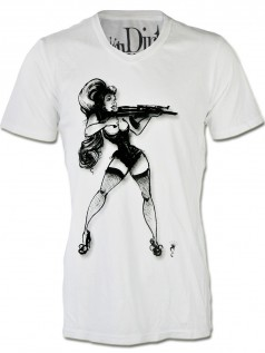 Dirtee Hollywood Herren Shirt Gun Girl (XL)