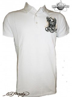 Ed Hardy Herren Club Polo Shirt Eagle