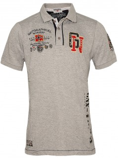 Geographical Norway Herren Poloshirt Kantik (XL) (grau)