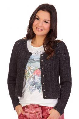 Orbis Trachten Strickjacke - MIARA, Anthrazit, 40